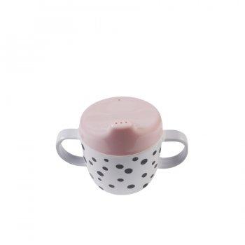 Done by Deer Trinklernbecher Happy Dots in rosa powder - Becher mit Henkel  Artikel 10557