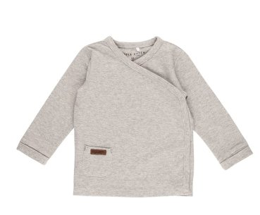 Little Dutch Baby - Wickelshirt - Grau Melange - Baby Langarm T-Shirt Gr. 56-68 - Grey Melange neutral