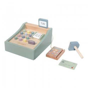 Little Dutch Kasse mit Scanner aus Holz Adventure Mint LD4469 - die Spielkasse